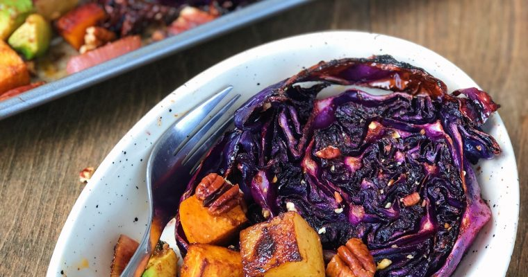 Balsamic Roasted Cabbage Steaks