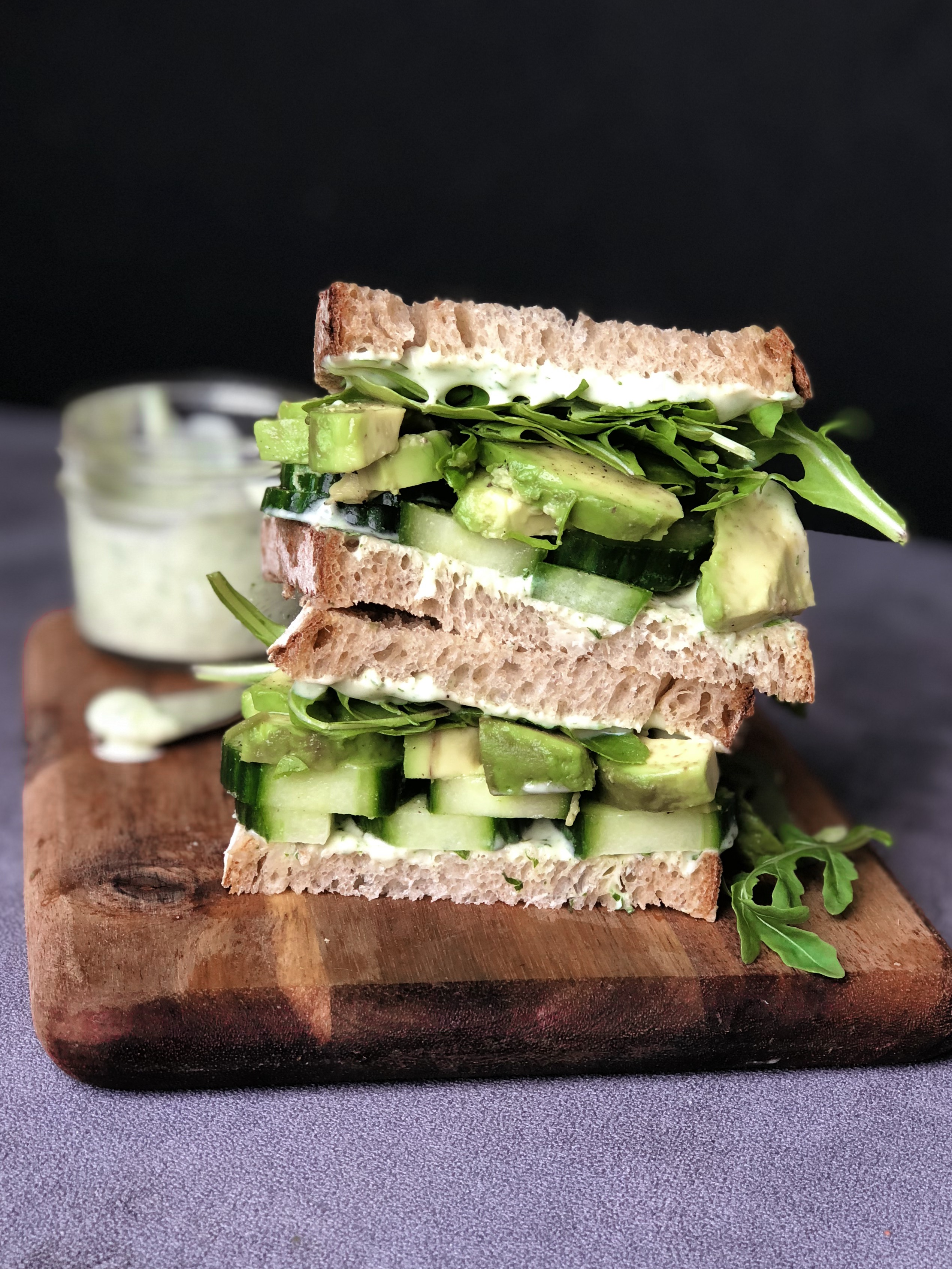 Green Machine Avocado Sandwich