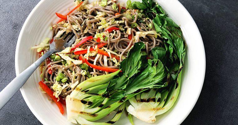 Soba Noodle Salad with Coconut Sriracha Sauce