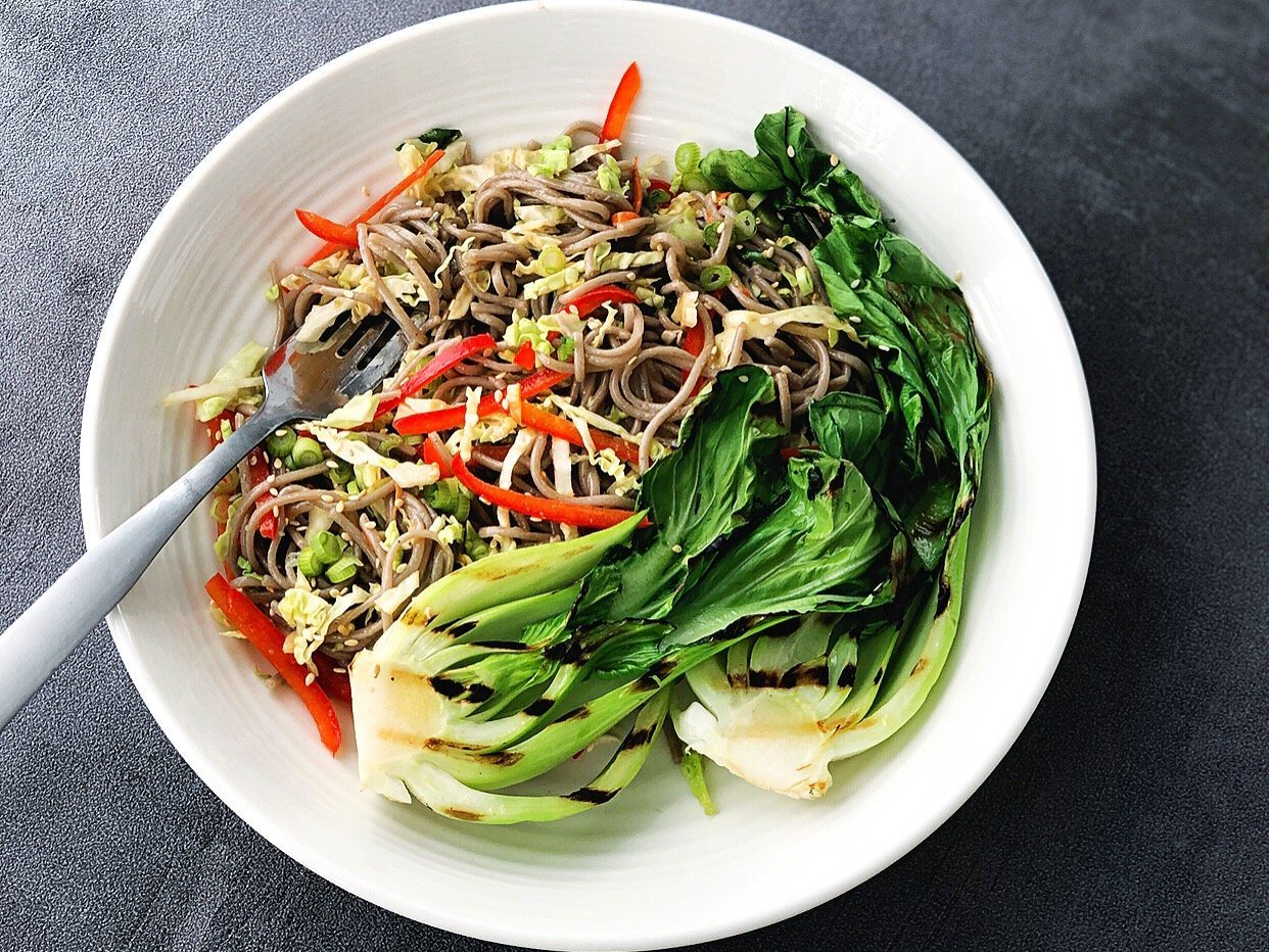 Soba Noodle Salad with Coconut Sriracha Sauce