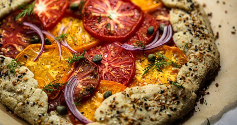 Vegan Everything Bagel Heirloom Tomato Galette