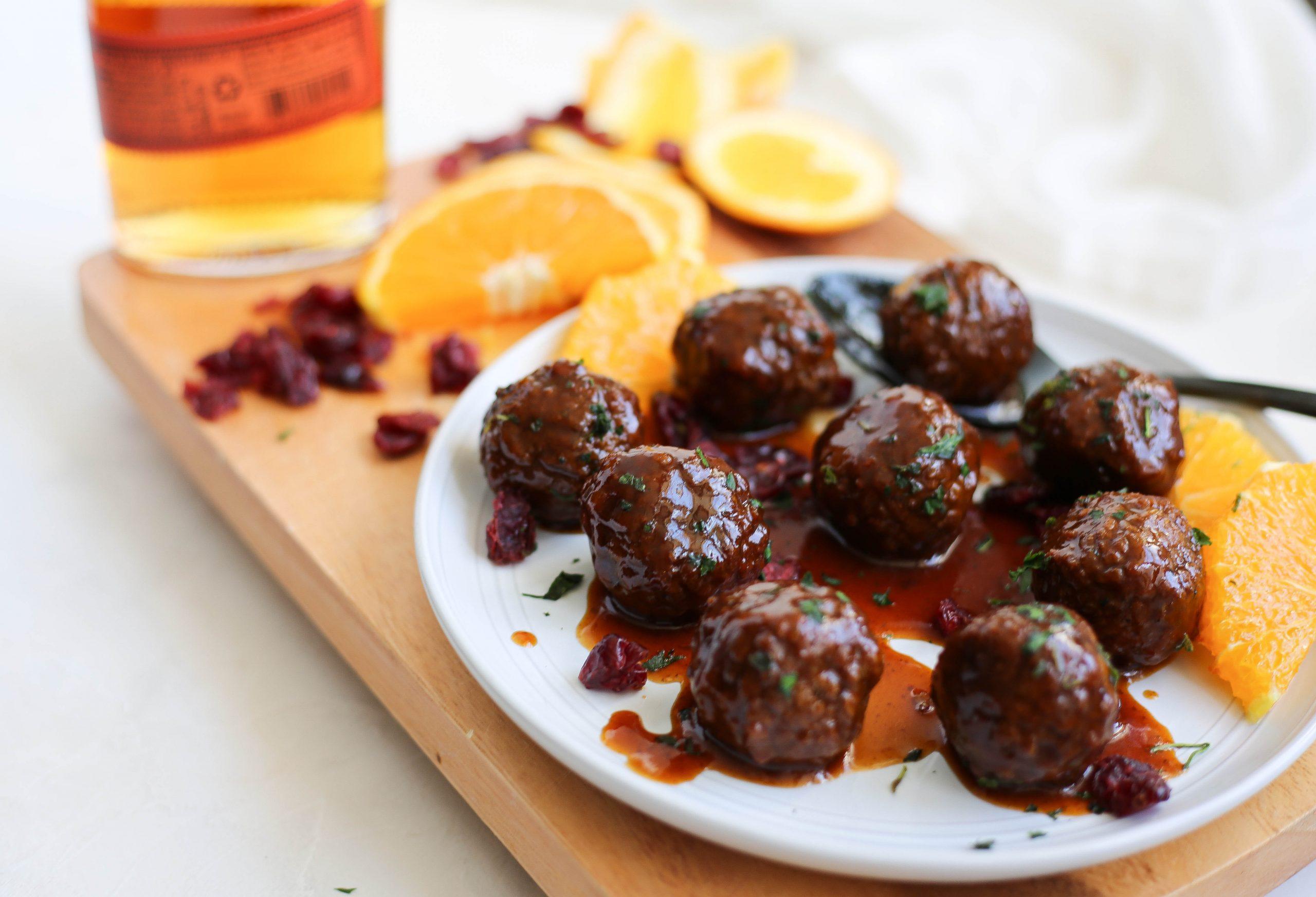 Instant Pot Vegan Bourbon Glazed Meatballs