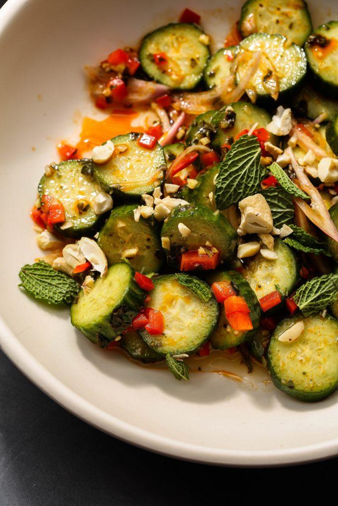 easiest cucumber salad