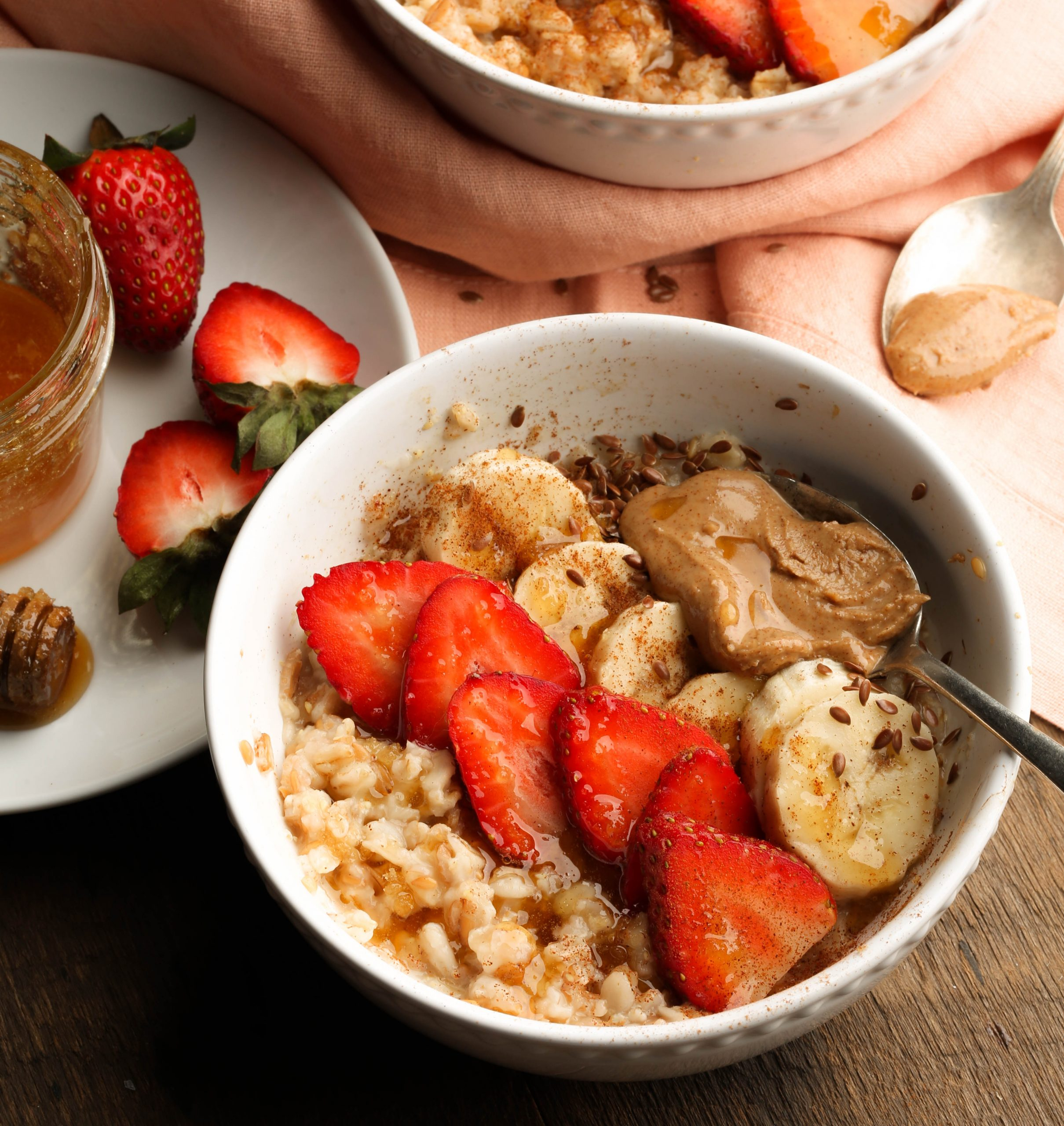 Five Grain Strawberry Almond Oat Bowls
