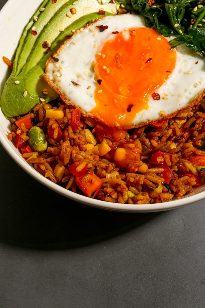 veggie fried rice breakfast bowls