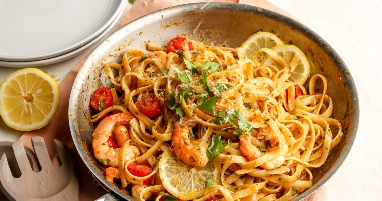 Old Bay & Lemon Shrimp Scampi
