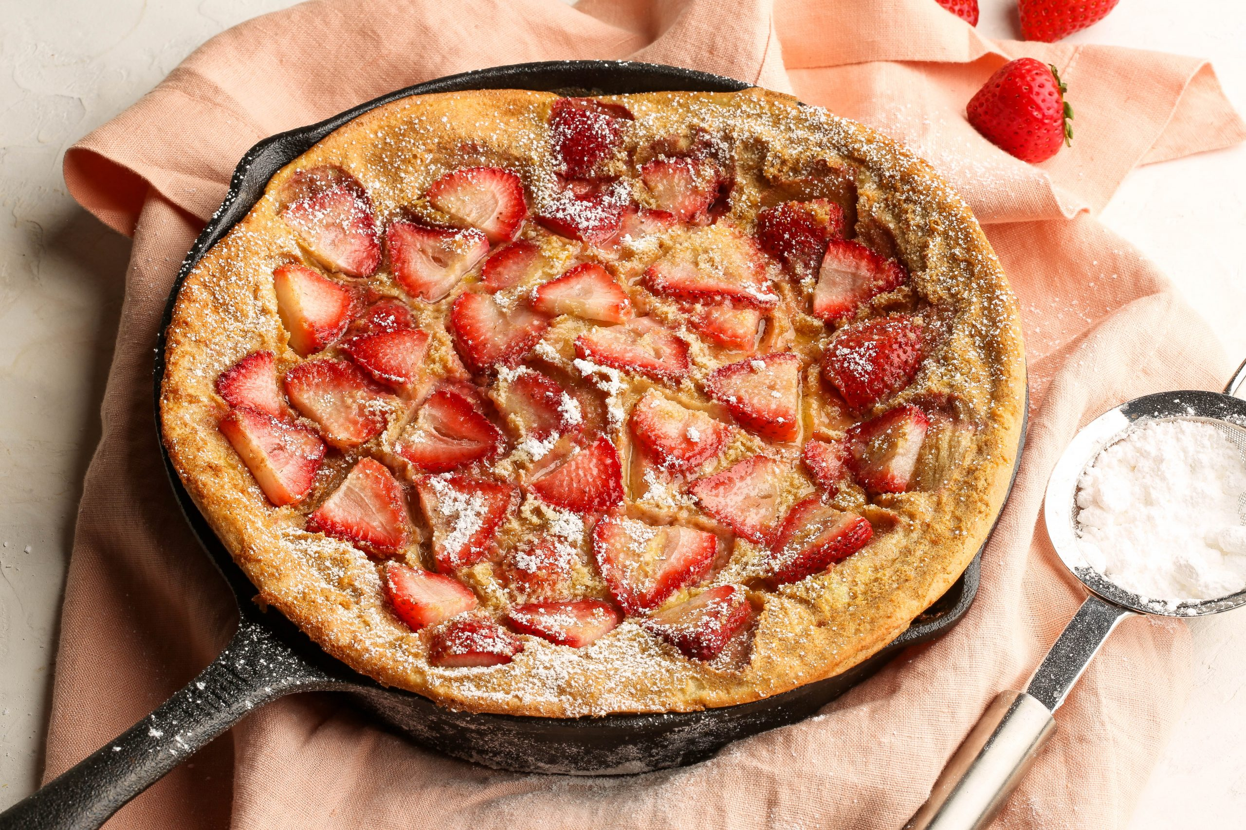Whole Wheat Strawberry Clafoutis