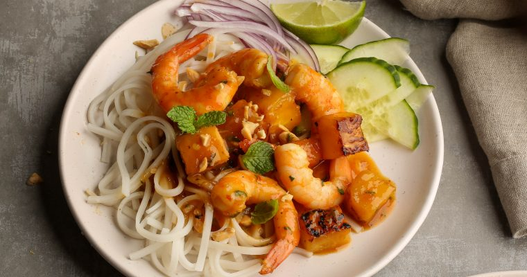 Sweet and Sour Pineapple Shrimp Bowls