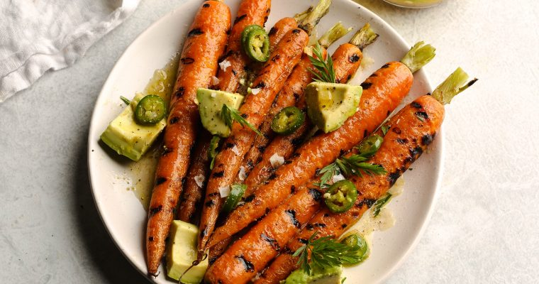 Bon Appetit's Grilled Carrots with Avocado and Mint