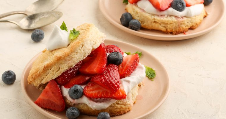 Vegan Strawberry Coconut Shortcakes